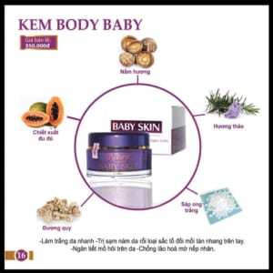 kem body trắng da baby skin